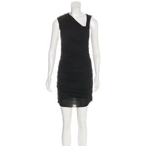 Helmut Lang ruched mini dress